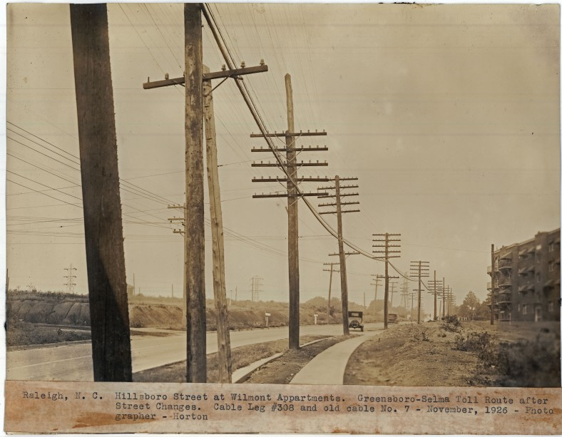 Hillsborough Street at Wilmont Apartments - Greensboro-Selma Toll Route - November, 1926