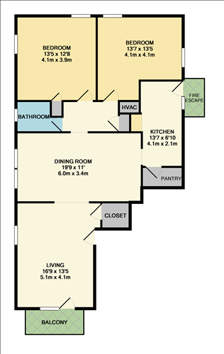 Hemingway floorplan